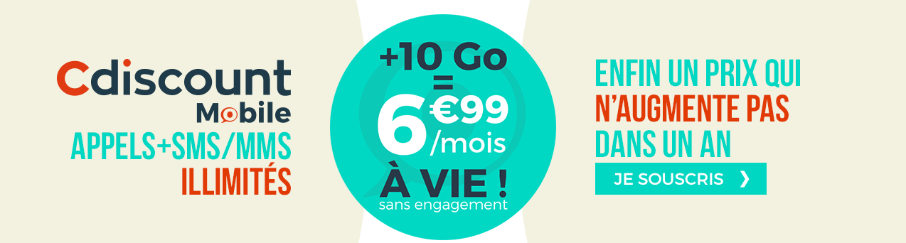 cdiscount mobile offre