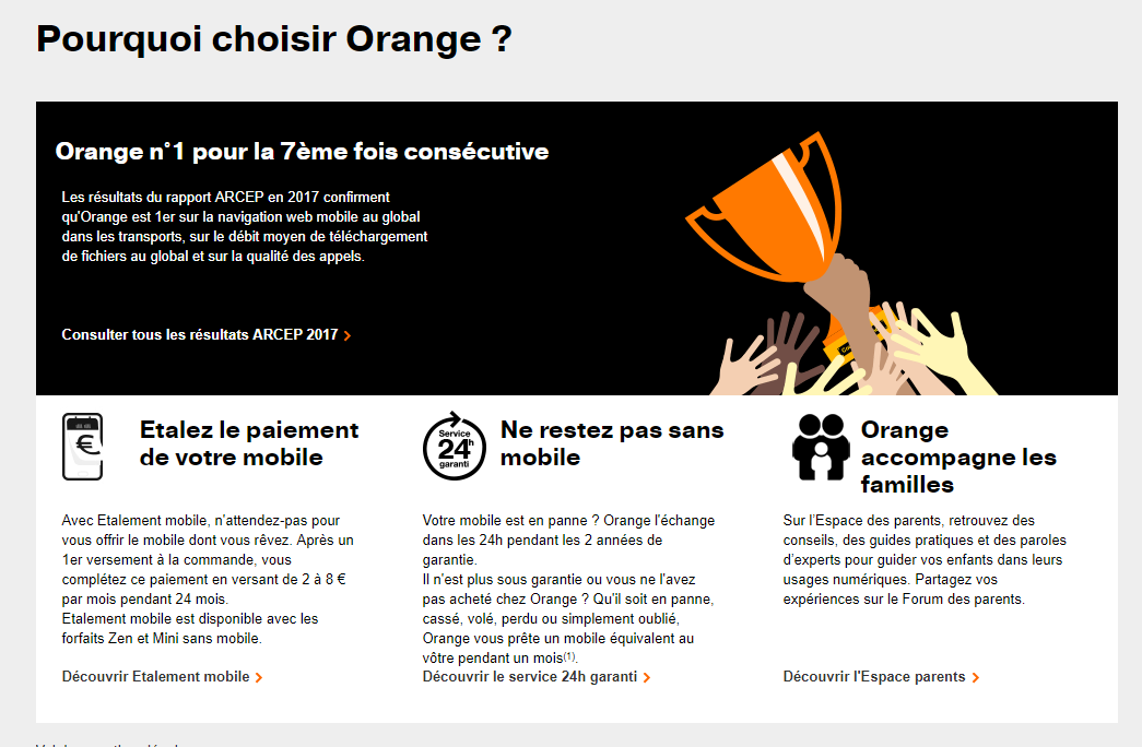 orange mobile vantages