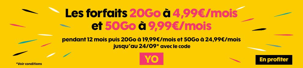 forfait mobile 4g sosh 20 go 4.90€