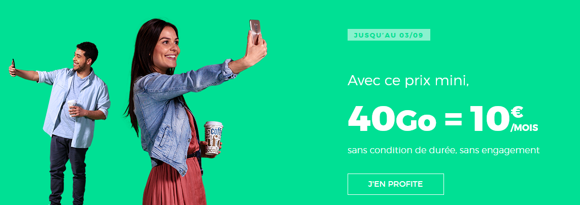 Forfait Mobile RED by SFR 40 Go à 10 €