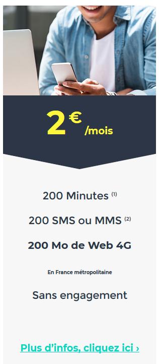 cdiscount mobile forfait 2e mois a vie