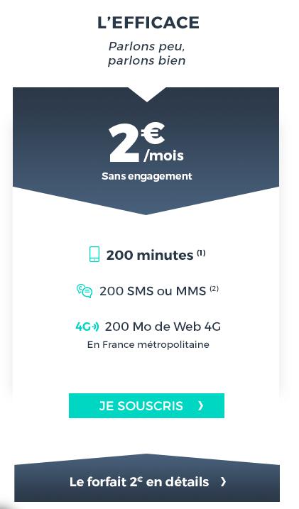 cdiscount mobile 2 euros