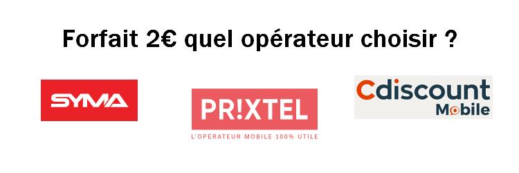forfait mobile 2 euros