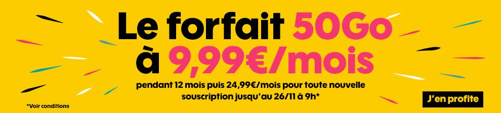 black friday forfait mobile 4g sosh 50 go 9 99 le mobile. Black Bedroom Furniture Sets. Home Design Ideas