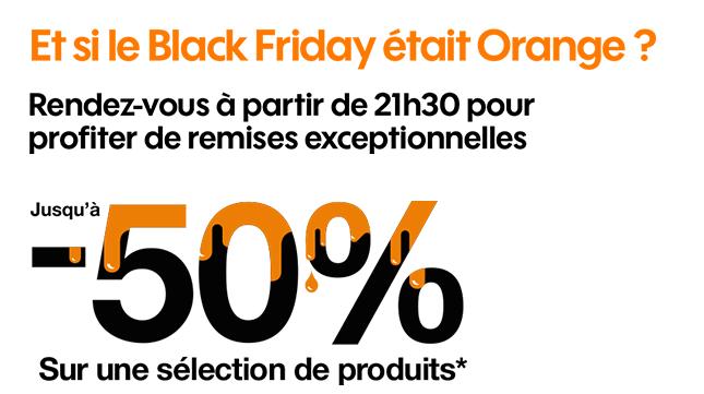 orange black friday 50%