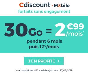 30Go cdiscount mobile