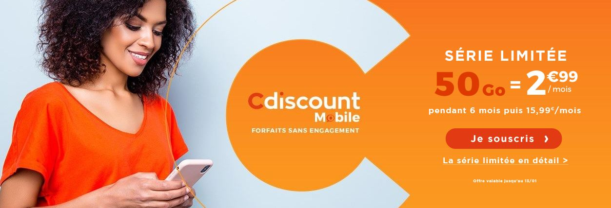 cdiscount mobile soldes 50go