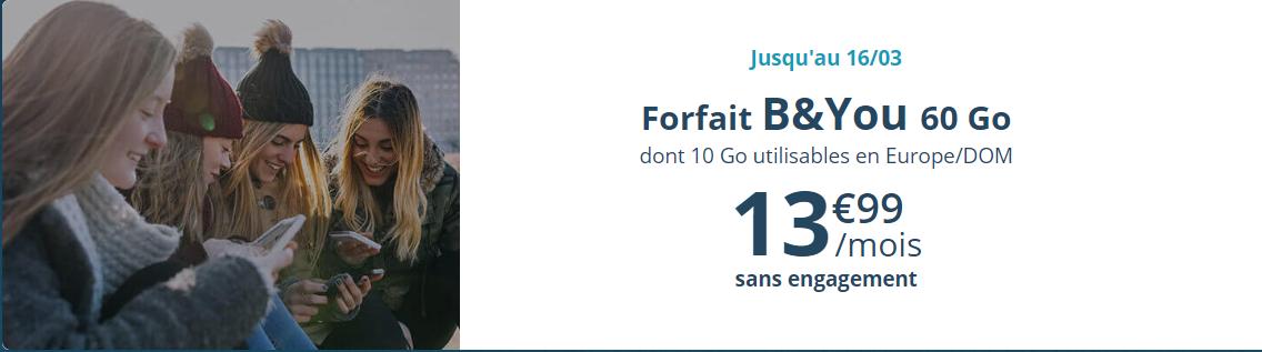 Forfait mobile 60 Go Bouygues Telecom
